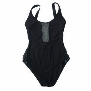 INGEAR Black fishnet one piece Swimsuit. Size Sm